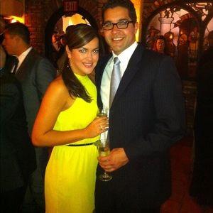 Max & Cleo lemongrass halter dress
